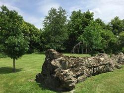 Cement remains of the Witenagemot Oak Peace Tree