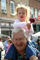 Grandfather and Grandaughter enjoying Applefest