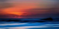 sea view dusk