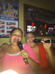 """Lissette and Ruth singing """"The Ladies National Anthem"""" at Legendary Friday Night Karaoke!"""