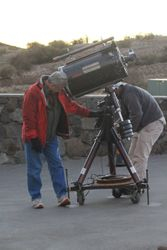Telescope setup for Star watching