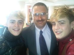 Maurice with Jedward