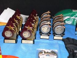The Trophies at the Saturdaynight Function