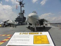 on the deck of Aircraft Carrier, LEXINGTON