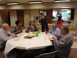 Seniors Enjoying Pancake Power Sunday School