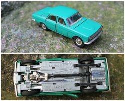 Tarybiniais laikais pagamintas modeliukas Volga Gaz 24, 1:43. Kaina 27