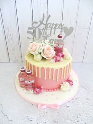 50th Birthday Gin themed drip cake