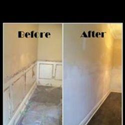 Wainscott trim removed