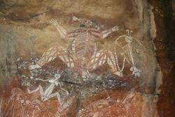 Aboriginal art at Kakadu National Park near Darwin