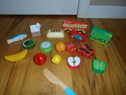 Melissa & Doug Wooden Play Food- 27 pieces - $15