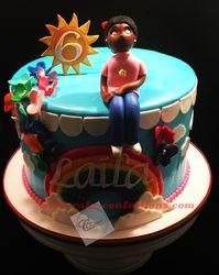 Rainbow Themed Cake