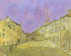 Interpretation of Square at Argenteuil by Alfred Sisley