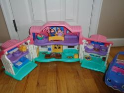 Fisher Price Little People Sweet Sounds Home & Minivan - $30