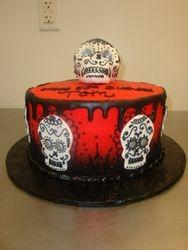 30 serving skull cake $180