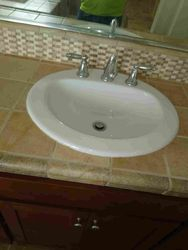 Grouted sink