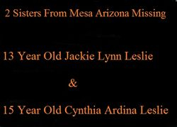 Maricopa County Arizona Two Missing Sisters