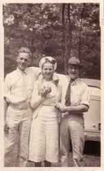 DeHaven Wilson Norris, Virginia Marguerite (Brown) Grove, and Cloyd Howard Rhodes