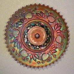 "Fanciful 9"" plate, in purple"