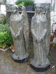 #13/061 Pair of Metal Church Angels
