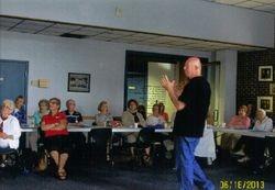 Wayne Nye explains to the audience