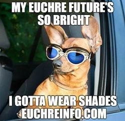My Euchre future's so bright I gotta wear shades.