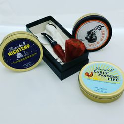 Briar Pipe and Dunhill tobacco