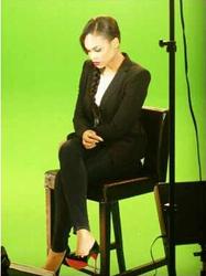Demetria McKinney Preparing For Her Tribute Video For Whitney Houston on February 11, 2013