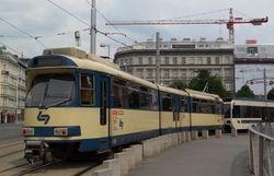SGP tram at Ring-Oper
