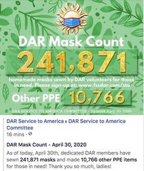 April 30th - 241,871 Masks Made