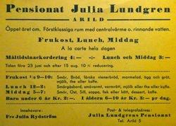 Julia Lundgrens konditori 1929