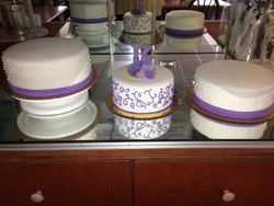 Fondant with white and Purple decor