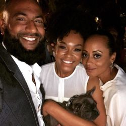 Krish Sidhu, Demetria McKinney and Essence Atkins attend Design Care