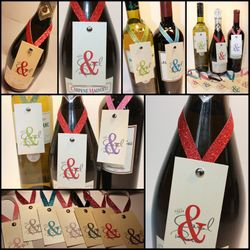 Wine Bottle Neck Tags - Rainbow Ampersand Collection