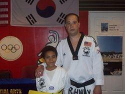 Alex getting his yellow m belt
