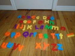 Large Magnetic Letters for Easel or Fridge - $10