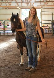 Intern - Monique Hader with Featured Sale Pony
