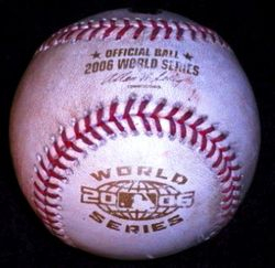 Game Used Baseball From Game 3 Of The 2006 World Series (Pitch to Pujols) (10/24/06)