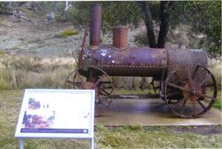 2009 The Portable steam engine at Yarrangobilly homestead site