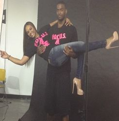 "Demetria McKinney & Josh Powell Behind The Scenes Photoshoot For The ""F.O.C.U.S 4 Life"" Campaign"