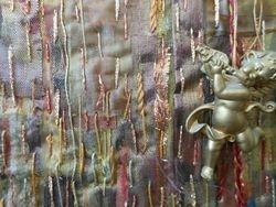 layers of fabrics and stitch