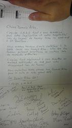 Lettre hommage de l'équipe L.H.D.C.