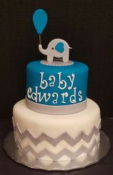 Baby Elephant Boy Chevron Design