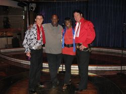 Tommy and Steve with 2 of the Platters.