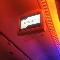 ELAL monitor on Plane to Israel