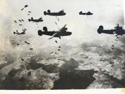 B-24's dropping their payload