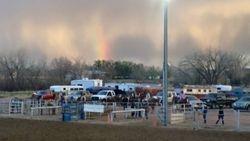 Rainbow over FRRC Arena