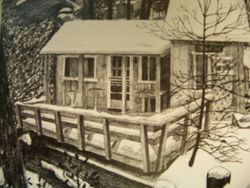 Mini Casa in  the winter