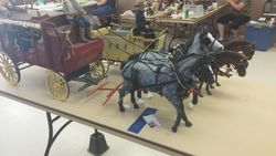 my wagons at a model horse show