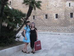 Elina and Mom in Italy