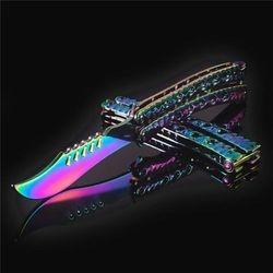 Butterfly Rainbow Knife